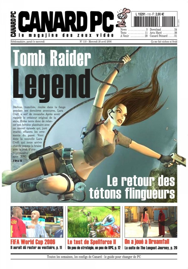 Canard Tomb Raider Legend