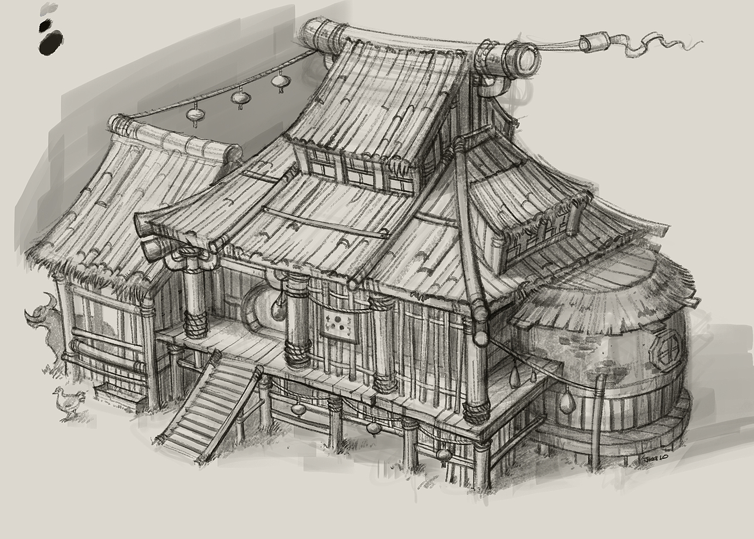 World of warcraft mists of pandaria for Concept house
