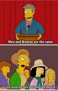 L'homme et la femme sont égaux...ou pas...enfin si !